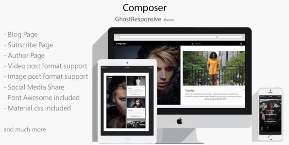 Composer – Responsive Ghost Theme