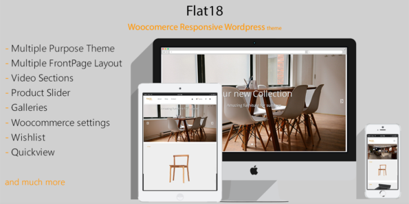 Flat18 – Responsive Woocommerce Theme